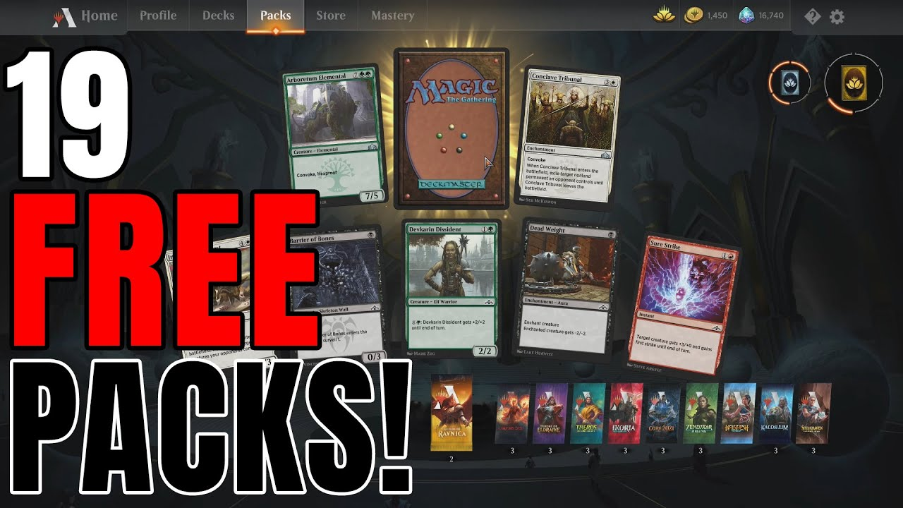 MTG Arena Free Packs